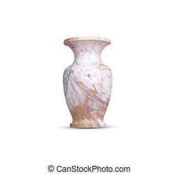 marble Vase - Marble vase, isolated objects on white ...