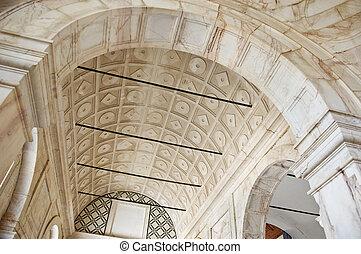 Marble vault in Convento de Santo Antonio, Alcacer do Sal, Alentejo, Portugal