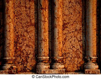 Marble wall with columns