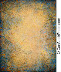 A vintage paper background with marbled grunge patterns and textures.