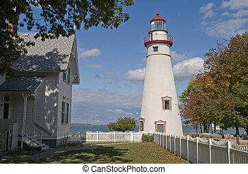 Marblehead Lighthouse, Lake Erie, Ohio, USA