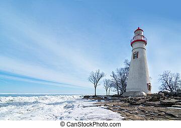 Marblehead Lighthouse Winter Scene