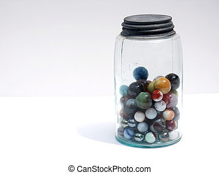 marbles in old jar 2