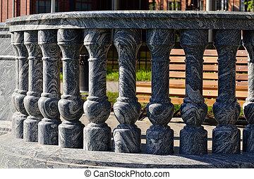 marbre, balustrade
