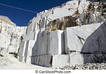 marbre blanc, carrière