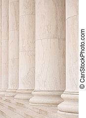 marbre, colonnes