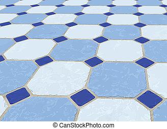 marbre, plancher carrelé