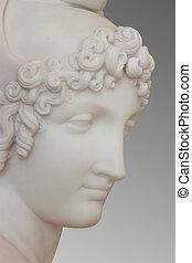 marbre, statue