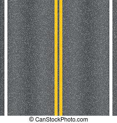 marcação, asfalto, lines., vetorial, textura, estrada