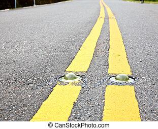 marcação, estrada