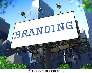 marca, concepto, billboard.