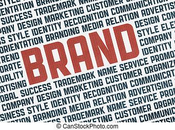 marca, concetto, illustrazione