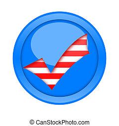 marca de verificación, botón
