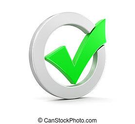 marca de verificación, (clipping, trayectoria, included)