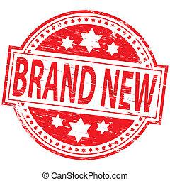 marca, estampilla, nuevo