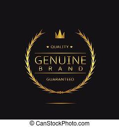 marca, genuino, etichetta