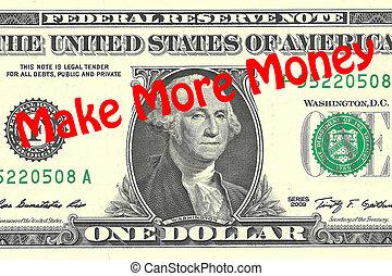 marca, más, dinero, concepto