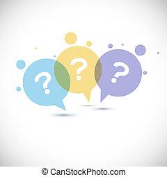 marca, modernos, pergunta, ícone