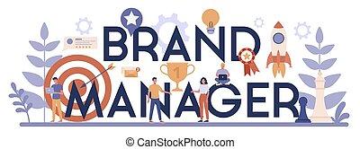 marca, online, gerente, serviço, platform., ou