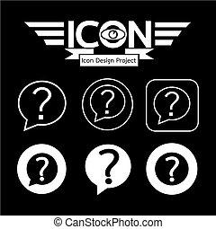 marca pergunta, ícone