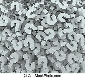 marca pergunta, fundo, problema, teste, aprendizagem,...