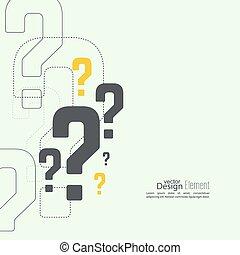 marca pergunta, icon.