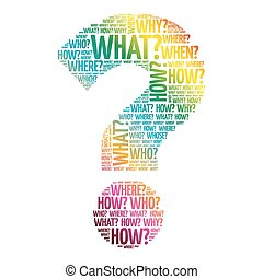 marca, pergunta, palavras