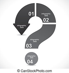 marca, pregunta, creativo, infographics