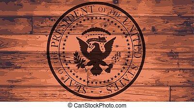 marca, presidencial, selo