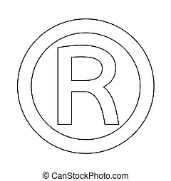 marca registrada, icono