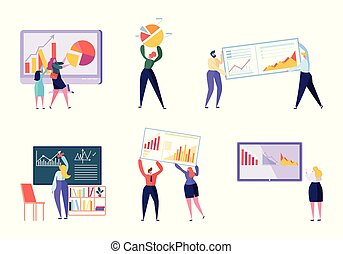 marca, vector, evolutivo, data., set., ilustración, analizar...