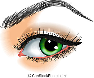 marca,  vector, ojo, Arriba, Ilustración