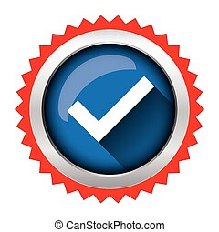 marca, vetorial, cheque, ícone