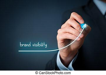 marca, visibilidade