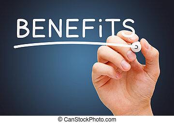 marcador, branca, benefícios