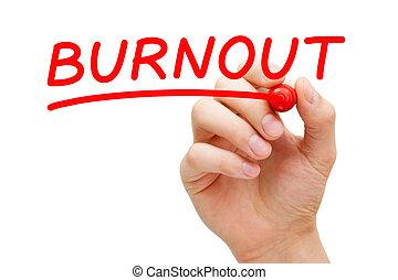 marcador, burnout, vermelho