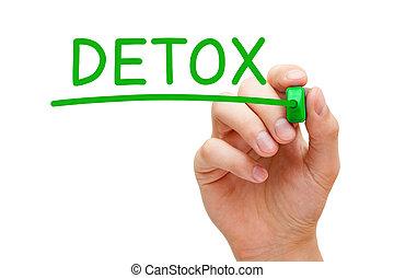 marcador, detox, verde