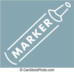 marcador, imagen, vector