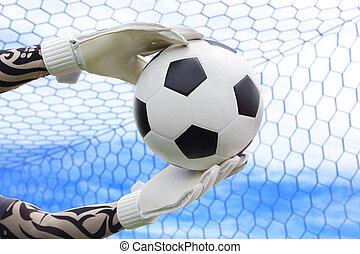 marcador, intercepting, tiros, goal., cliping, designado,...