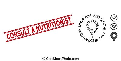 marcador, línea, collage, diagrama, nutricionista, mapa,...