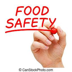 marcador, manuscrito, alimento, vermelho, segurança