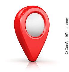 marcador, mapa, ubicación