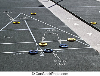 marcador, shuffleboard