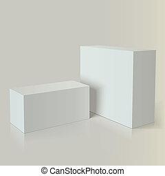 marcar, branca, embalagem, realístico, foto