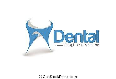 marcare caldo, dentista, vettore, disegno, logotipo, identità aziendale