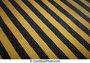 marcatura, grunge, segno, giallo, avvertimento, sfondo nero