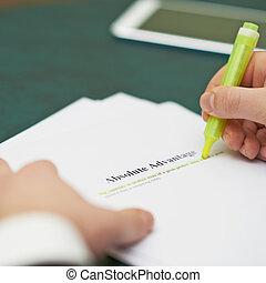 marcatura, parole, in, un, assoluto, vantaggio, definizione