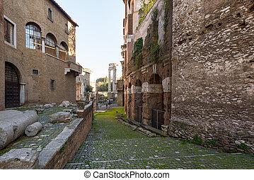 Rome, Italy, - January 05, 2015: Teatro Marcello ruin dating 17 BC