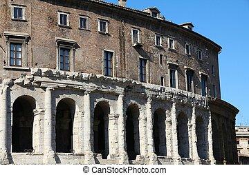 Rome, Italy - Teatro Marcello, ancient Roman theatre.