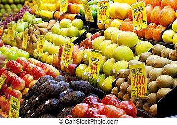 marché, fruits